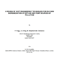 A Review of 'Soft Engineering' Techniques for On-Farm Bioremediation of Diffuse and Point Sources of Pollution, Defra report